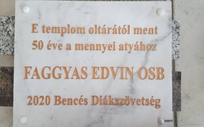 Edvin atya emléktáblájának avatása
