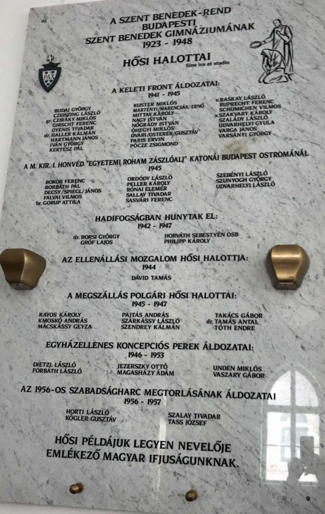 Bencés diák hősi halottak