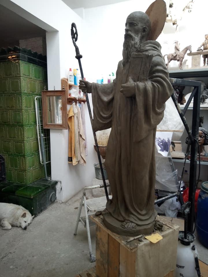Szent Benedek szobor