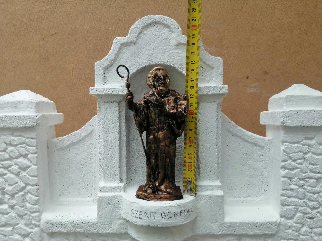 Szent Benedek szobor makett